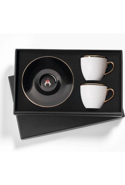 Selamlique 2'li Classic Black Türk Kahvesi Fincanı