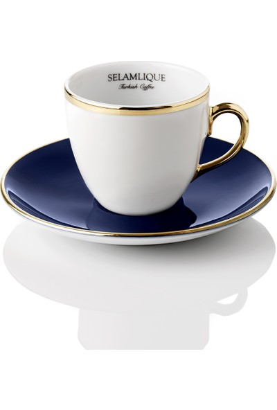 Selamlique 4'lü Classic Blue Türk Kahvesi Fincanı