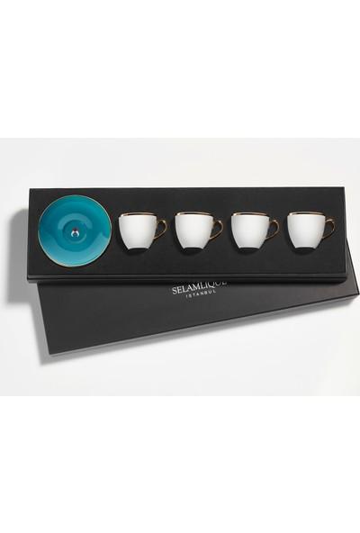 Selamlique 4'lü Classic Turquoise Türk Kahvesi Fincanı