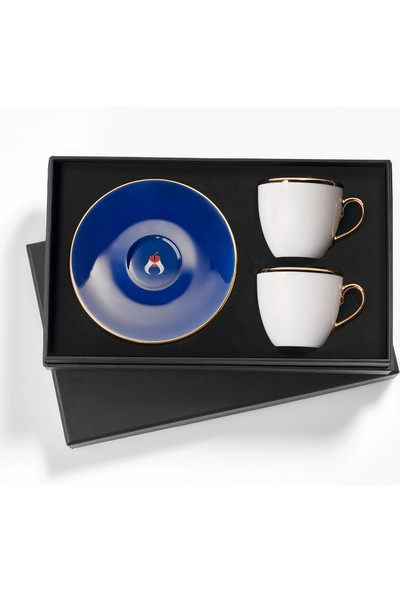 Selamlique 2'li Classic Blue Türk Kahvesi Fincanı