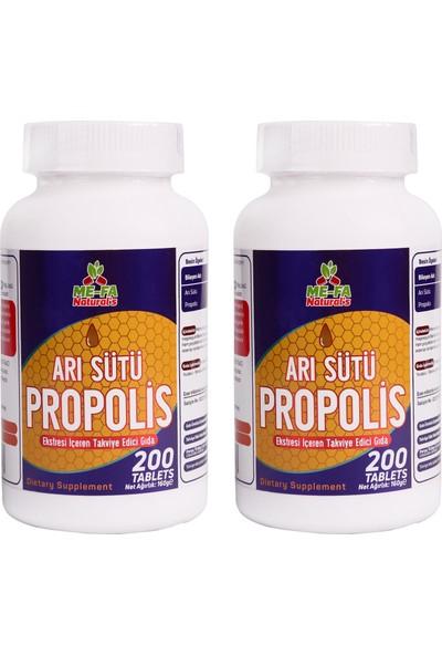 Mefa Naturals Arı Sütü Propolis 2 KUTU 400 TABLET