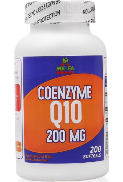 Mefa Naturals Coenzyme Q10 200 MG 3 KUTU 600 SOFTGEL