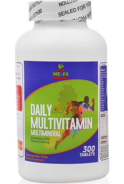 Mefa Naturals Daily Multivitamin Multimineral 300 TABLET