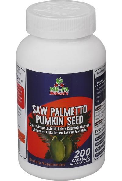 Mefa Naturals Saw Palmetto Pumkin Seed Complex 3 KUTU 600 KAPSÜL