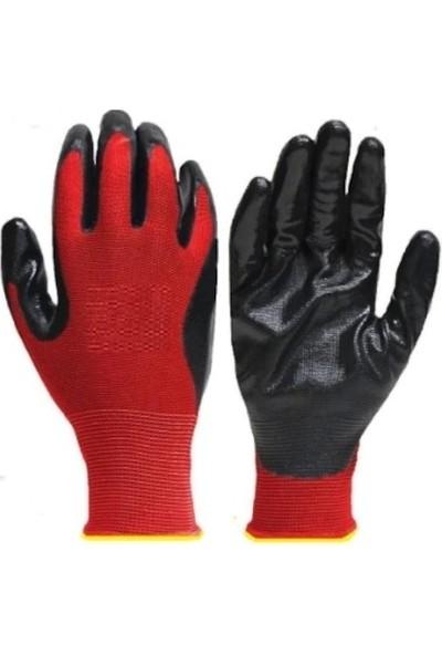 Guard Nitril Eldiven Kırmızı-Siyah No:10