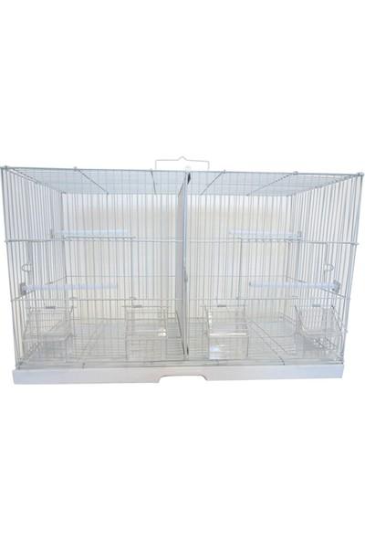 Best Cage Bölmeli Salma Çifthane Kafes 61 x 30 x 39 cm Beyaz