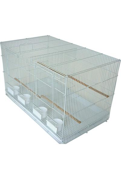 Best Cage Bölmeli Salma Çifthane Kafes 60 x 42 x 42 Beyaz