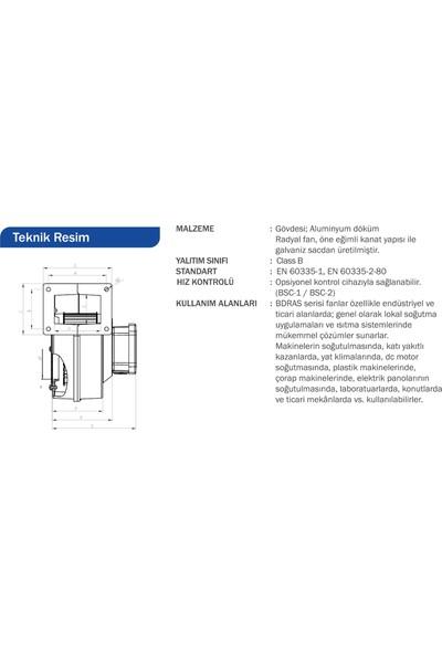 Bahçıvan Bdras 120-60 Alüminyum Gövdeli Salyangoz Fan