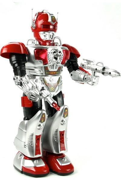 Vardem Işıklı Sesli Yürüyen Robot 44 cm Kırmızı