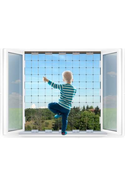 Winblock Çocuklar Için Pencere Güvenlik Sistemi - Fransız Balkon Kutusu 70 x 220 cm Kadar Uyumlu