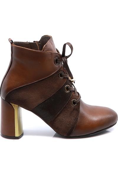 Eşle Ayakkabı Kadın Deri Bot Taba