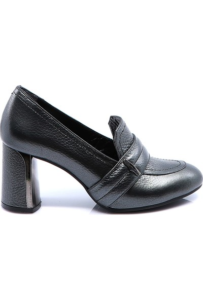 Eşle Ayakkabı Kadın Deri Ayakkabı Antrasit