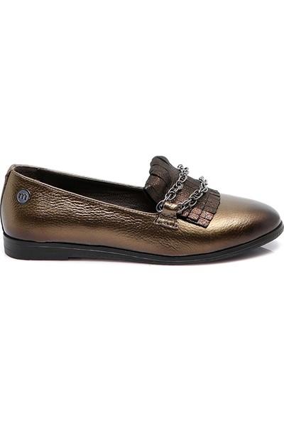 Mammamia Kadın Deri Ayakkabı Bakir-Bakir