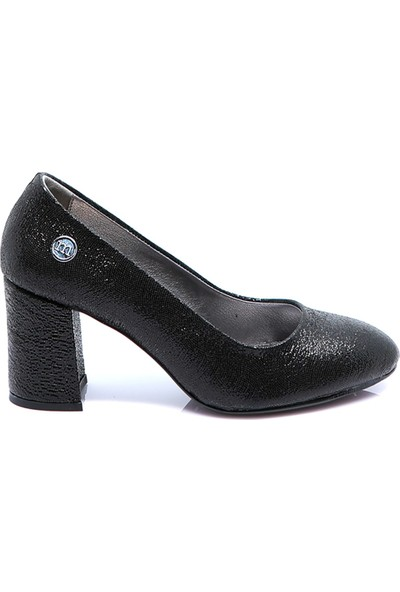 Mammamia Kadın Deri Ayakkabı Siyah Sim