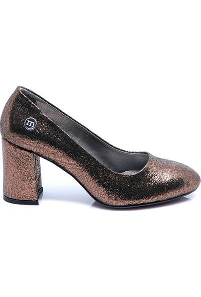 Mammamia Kadın Deri Ayakkabı Bakir Sim