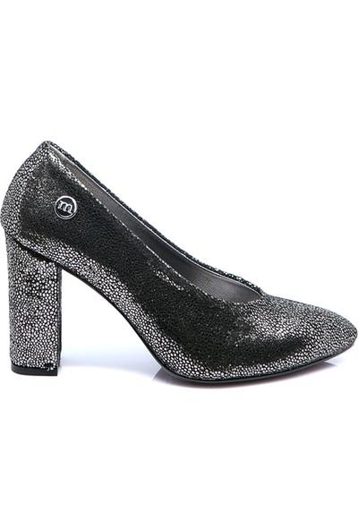 Mammamia Kadın Deri Ayakkabı Platin Sim