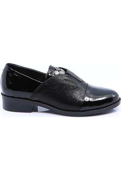 iloz Kadın Deri Ayakkabı Siyah
