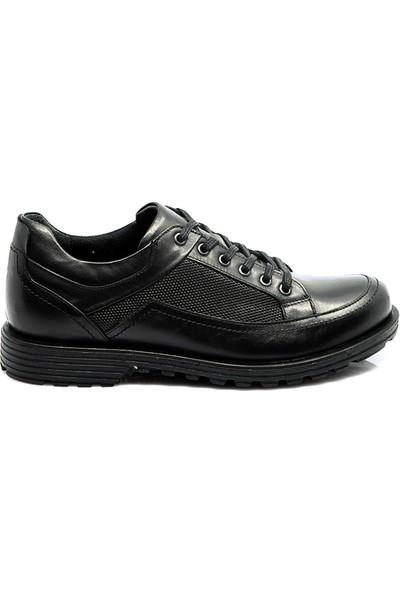 Komcero Erkek Deri Ayakkabı Siyah