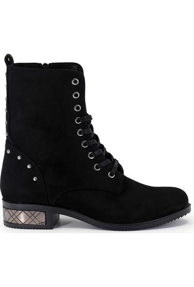 Eşle Ayakkabı Kadın Bot Siyah Suet