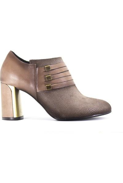 Eşle Ayakkabı Kadın Deri Ayakkabı Vizon