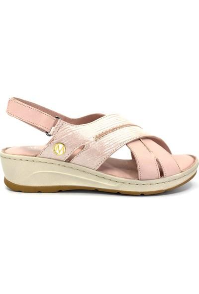 Eşle Ayakkabı 9Y-2108 Kadın Sandalet Pudra