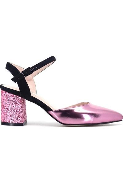 Eşle Ayakkabı 9Y-1140 Kadın Topuklu Ayakkabı Pembe