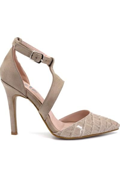 Eşle Ayakkabı 9Y-1161 Kadın Abiye Ayakkabı Bej