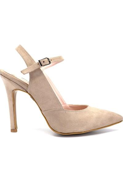 Eşle Ayakkabı 9Y-1162 Kadın Abiye Ayakkabı Bej