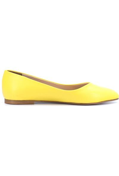 Eşle Ayakkabı 9Y-02-250 Kadın Babet Sarı