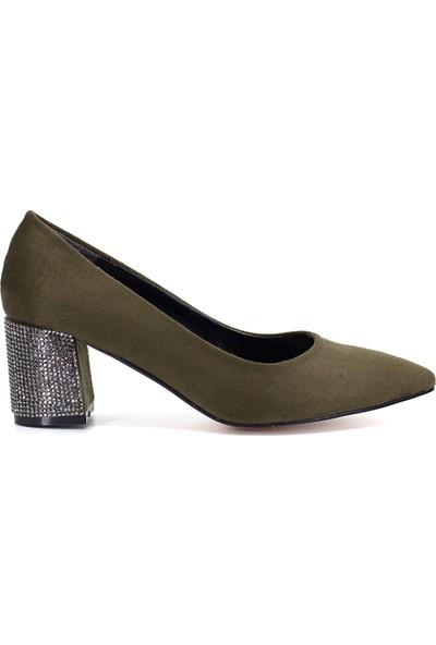 Eşle Ayakkabı 9Y-172-585 Kadın Ayakkabı Yeşil