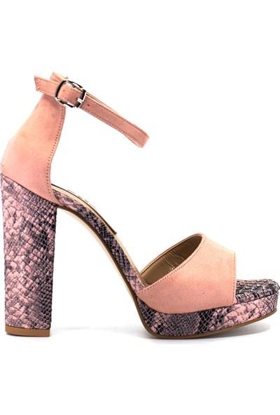 Eşle Ayakkabı 9Y-221-307 Kadın Ayakkabı Pudra
