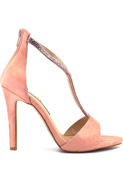 Eşle Ayakkabı 9Y-277-157 Kadın Ayakkabı Pudra