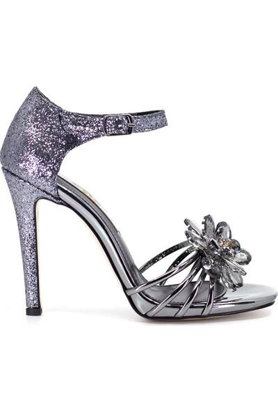 Eşle Ayakkabı 9Y-284-907 Kadın Ayakkabı Platin