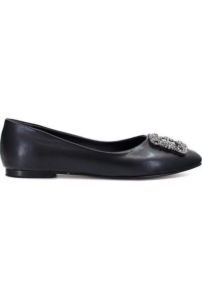 Eşle Ayakkabı 9Y-02-320 Kadın Babet Siyah
