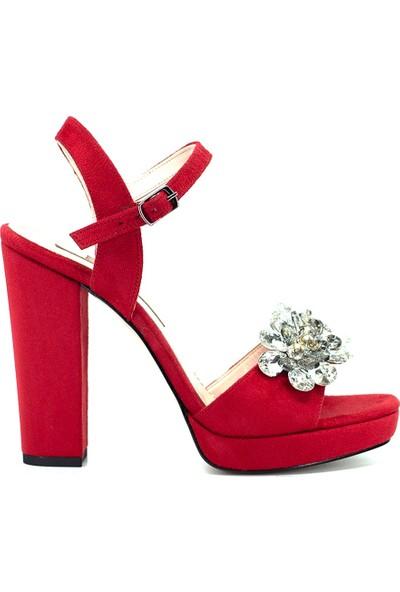 Eşle Ayakkabı 9Y-08-29 Kadın Ayakkabı Kırmızı