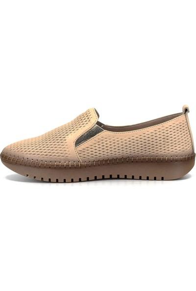 Mammamia D19Ya-4600 Kadın Deri Ayakkabı Bej