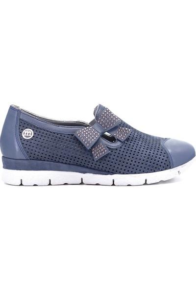 Mammamia D19YA-695 Kadın Günlük Ayakkabı Mavi Koyu