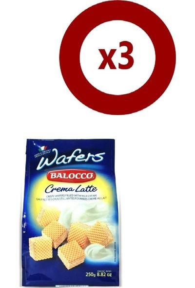 Balocco Gofret Latte 250 gr 3'Lü Set