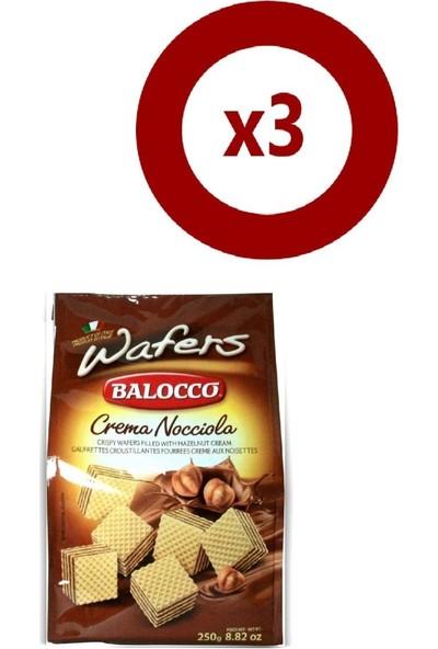 Balocco Gofret Fındıklı 250 gr 3'Lü Set