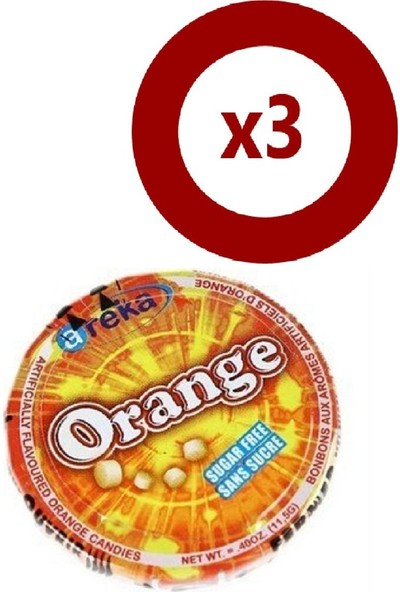 Areka Şeker Portakallı 3Lü Set