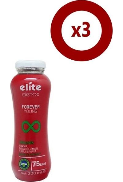 Elite Detox Forever Young 200 ml 3'Lü Set