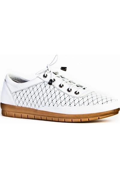 Cabani Günlük Ayakkabı Beyaz Deri