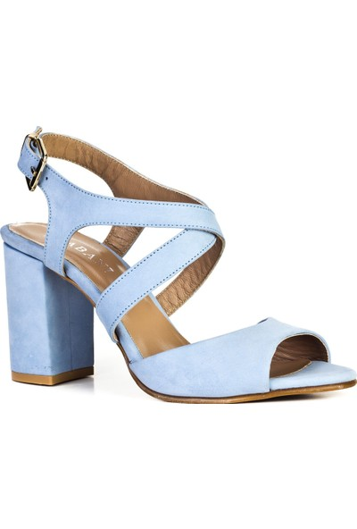 Cabani Günlük Sandalet Mavi Nubuk