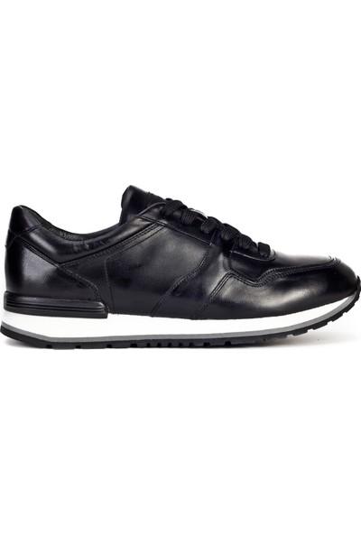 Cabani Sneaker Ayakkabı Siyah Analin Deri