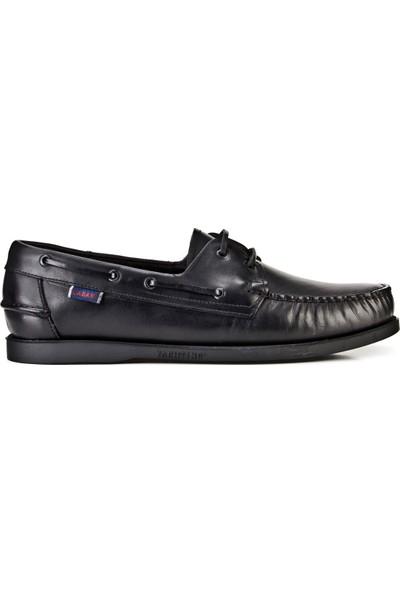 Cabani Günlük Ayakkabı Siyah Analin Deri
