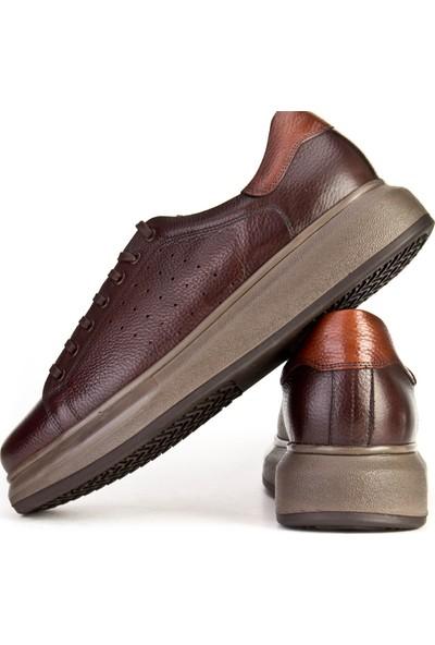 Cabani Sneaker Ayakkabı Kahve Floter Deri
