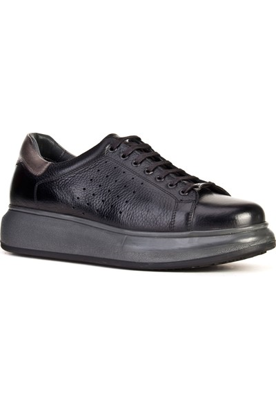 Cabani Sneaker Ayakkabı Siyah Naturel Floter Deri