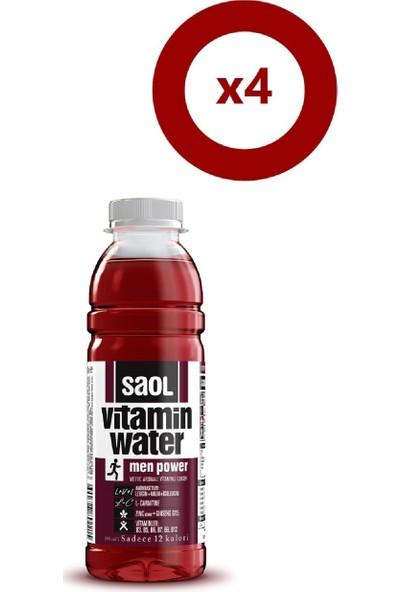 Saol Water Men Power 500 ml 4'Lü Set