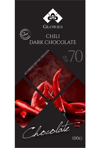 Glories Aci Biberli %70 Bitter Çikolata 100 gr