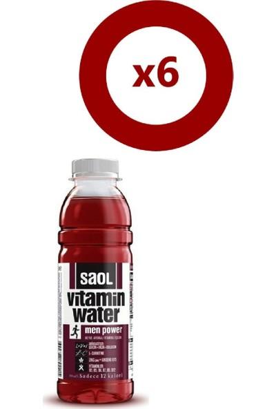 Saol Water Men Power 500 ml 6'Lı Set